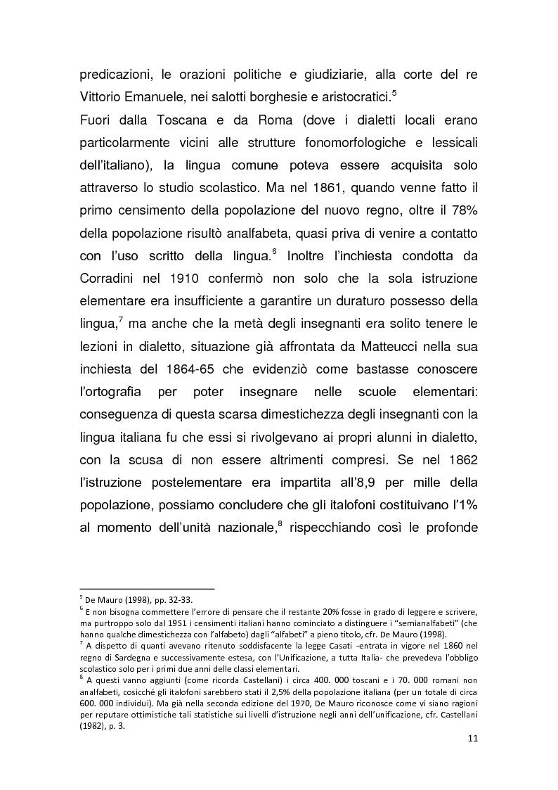 """Anteprima della tesi: Dalla pagina allo schermo: analisi linguistica de """"La romana"""" di Alberto Moravia e delle sue trasposizioni cinematografiche, Pagina 12"""