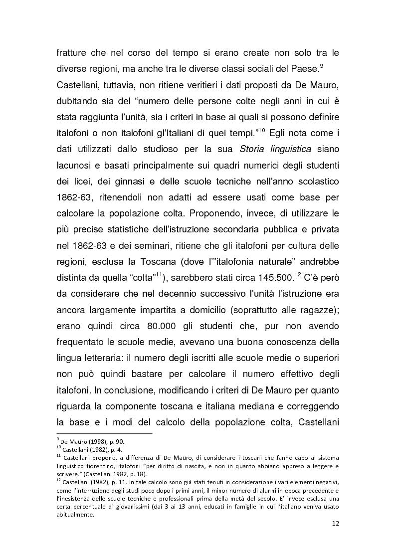 """Anteprima della tesi: Dalla pagina allo schermo: analisi linguistica de """"La romana"""" di Alberto Moravia e delle sue trasposizioni cinematografiche, Pagina 13"""