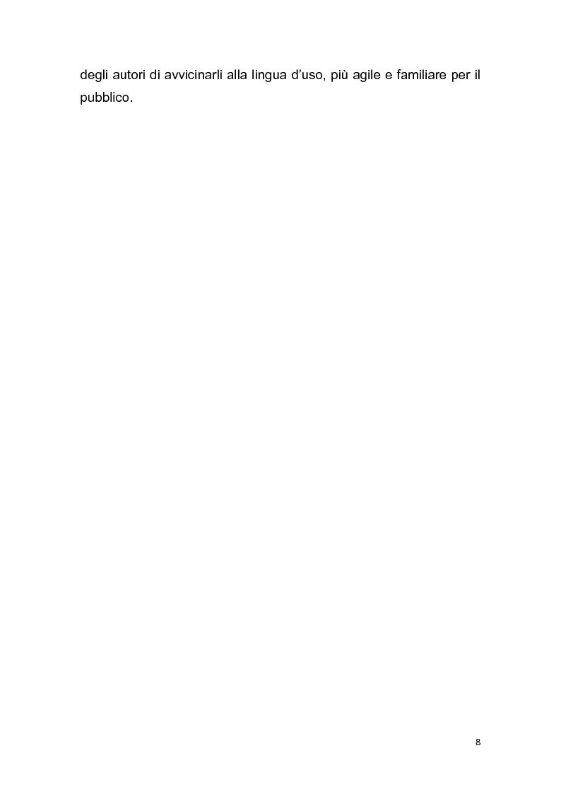 """Anteprima della tesi: Dalla pagina allo schermo: analisi linguistica de """"La romana"""" di Alberto Moravia e delle sue trasposizioni cinematografiche, Pagina 9"""