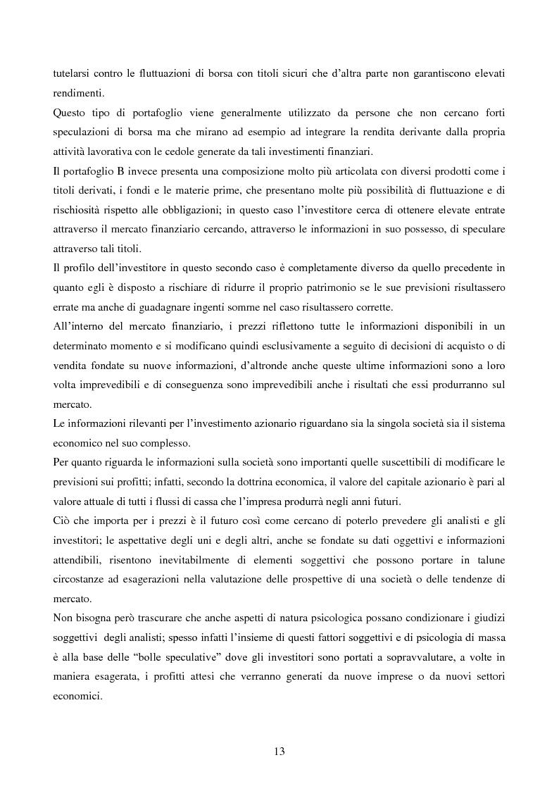 Anteprima della tesi: L'importanza dell'informazione all'interno dei mercati borsistici, Pagina 10