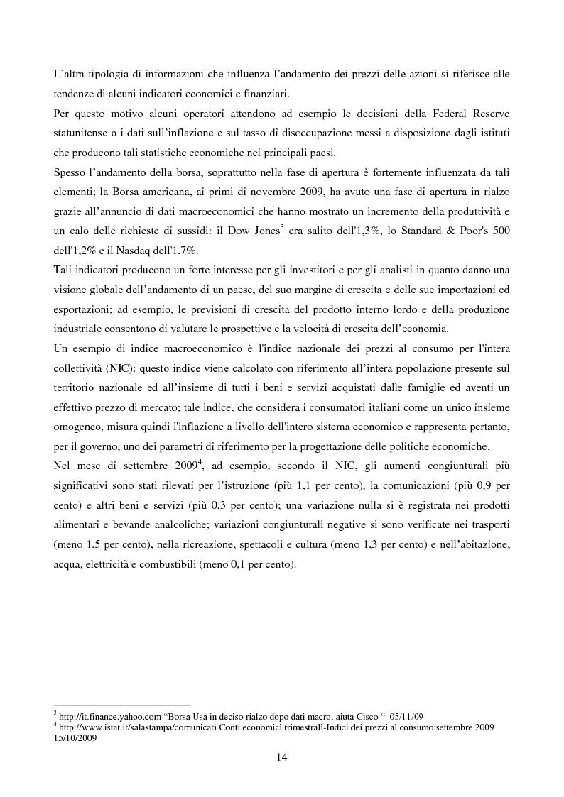 Anteprima della tesi: L'importanza dell'informazione all'interno dei mercati borsistici, Pagina 11
