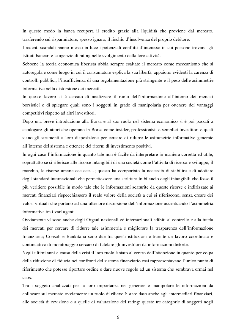 Anteprima della tesi: L'importanza dell'informazione all'interno dei mercati borsistici, Pagina 3