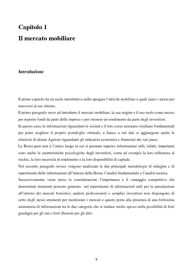 Anteprima della tesi: L'importanza dell'informazione all'interno dei mercati borsistici, Pagina 5