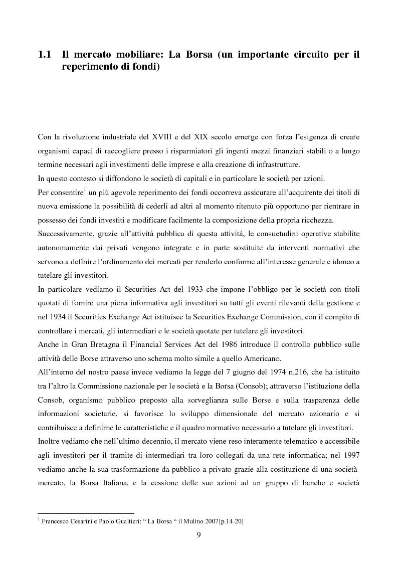 Anteprima della tesi: L'importanza dell'informazione all'interno dei mercati borsistici, Pagina 6