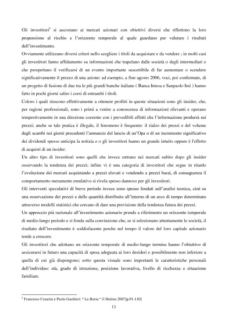 Anteprima della tesi: L'importanza dell'informazione all'interno dei mercati borsistici, Pagina 8