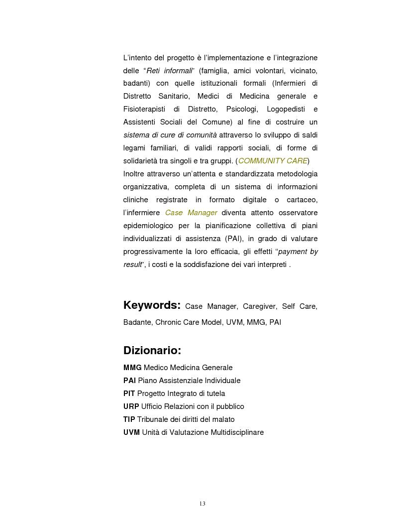 Anteprima della tesi: La Badante risorsa attiva a supporto dell'infermiere nell'assistenza domiciliare, Pagina 12