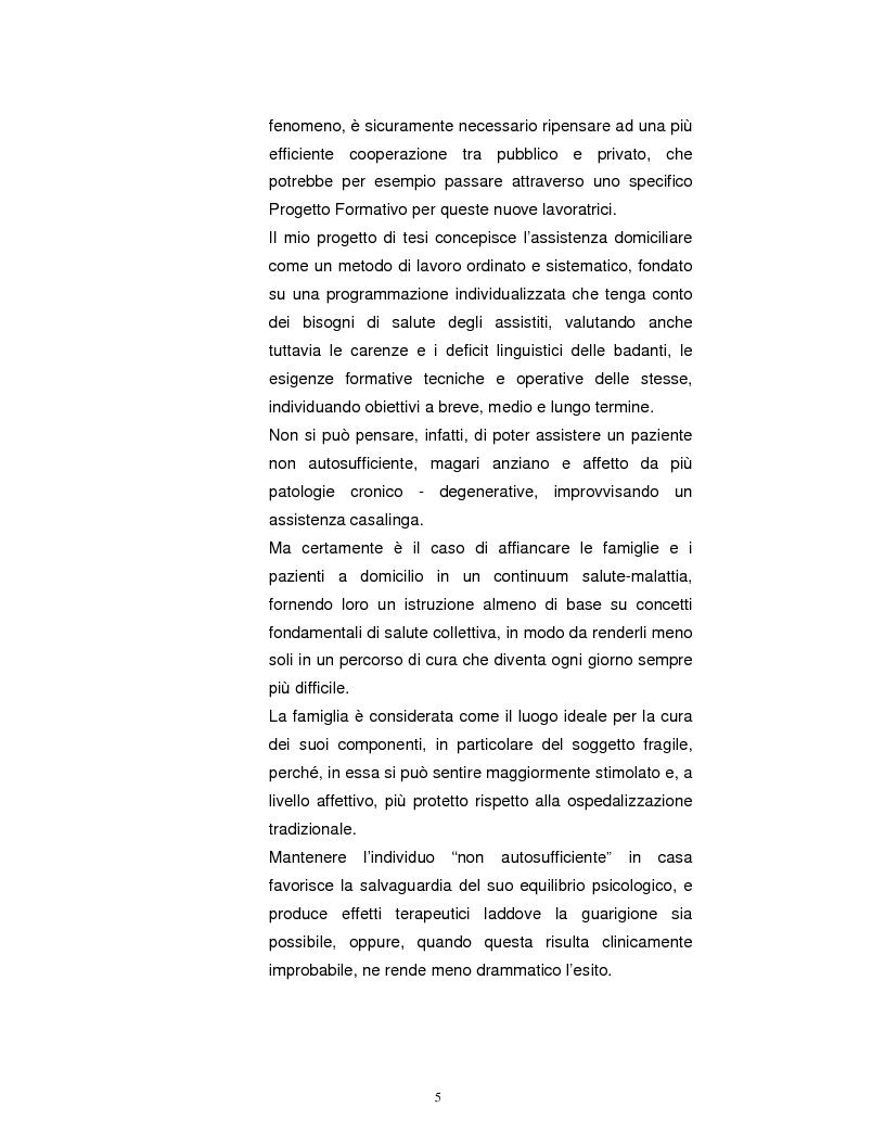 Anteprima della tesi: La Badante risorsa attiva a supporto dell'infermiere nell'assistenza domiciliare, Pagina 4
