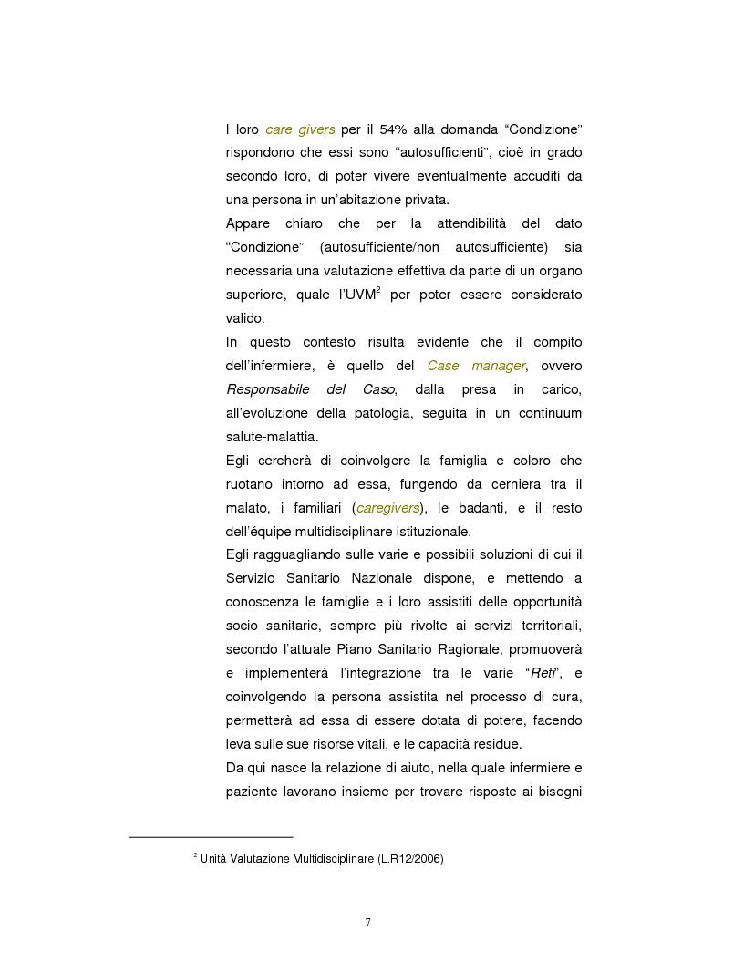 Anteprima della tesi: La Badante risorsa attiva a supporto dell'infermiere nell'assistenza domiciliare, Pagina 6
