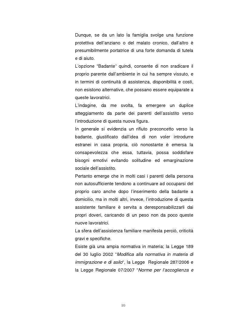 Anteprima della tesi: La Badante risorsa attiva a supporto dell'infermiere nell'assistenza domiciliare, Pagina 9