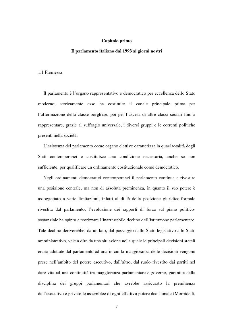 Anteprima della tesi: Il parlamento elettronico: l'incidenza delle ICTs sulle funzioni parlamentari, Pagina 6