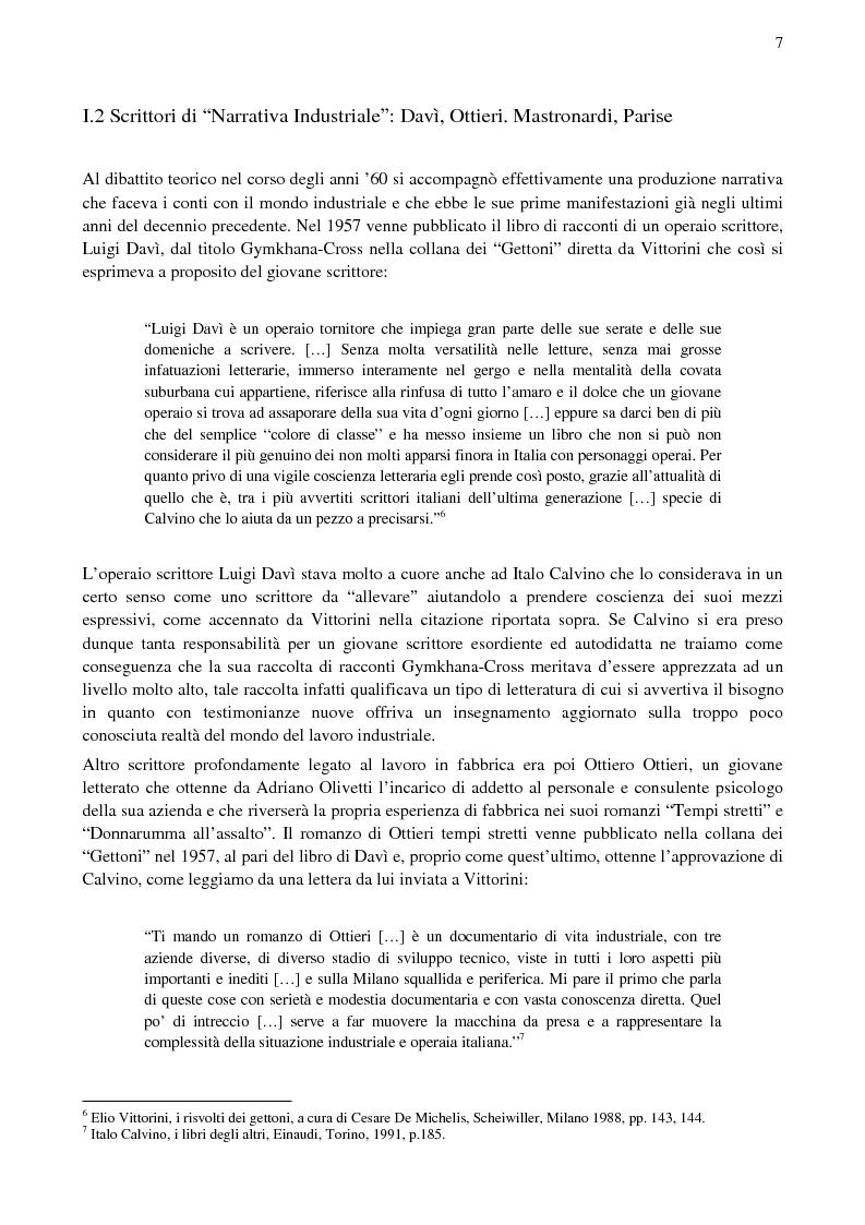 Anteprima della tesi: Paolo Volponi, la ''Letteratura Industriale'' e i ''diversi'' Volponiani, Pagina 6