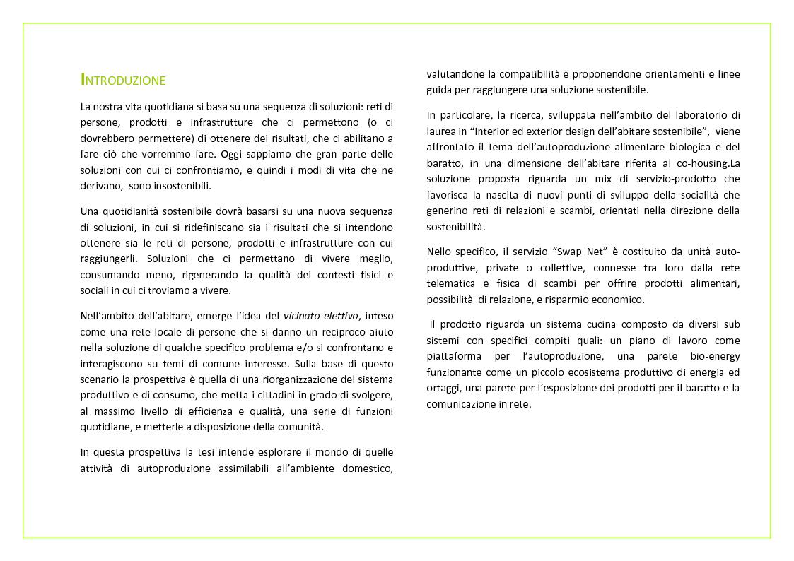 Anteprima della tesi: Swap net & Kitchen design. Design del Servizio-Prodotto per l'autoproduzione alimentare e il baratto nell'abitare collettivo, Pagina 2