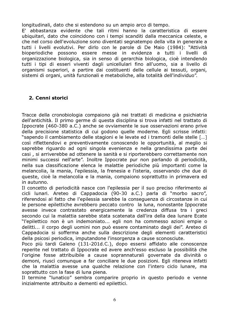 Anteprima della tesi: Cronobiologia ed evoluzione umana: uno studio ecologico dei ritmi circadiani, circatrigintani e circannuali e delle loro influenze sul comportamento umano., Pagina 3