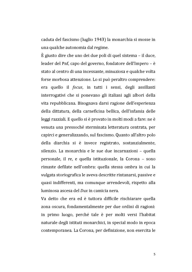 Anteprima della tesi: Vittorio Emanuele III e Mussolini: una diarchia tra apparenti successi e contrasti nascosti. La questione balcanica., Pagina 3