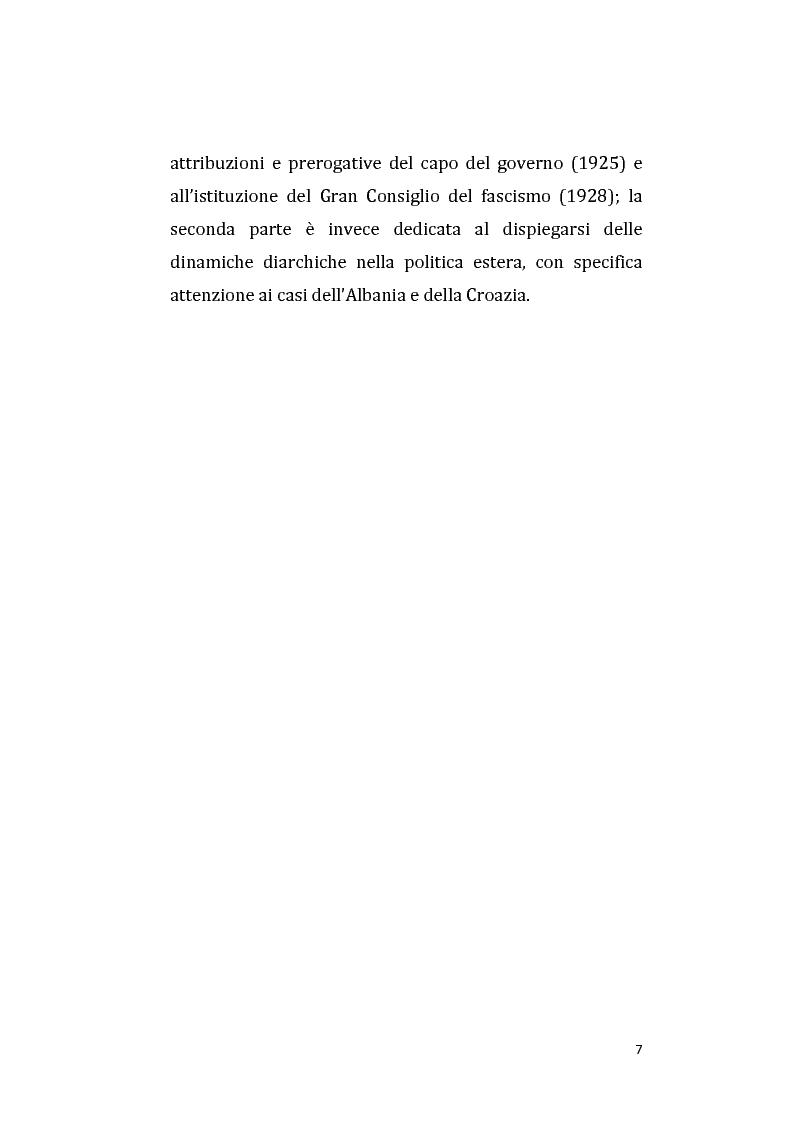 Anteprima della tesi: Vittorio Emanuele III e Mussolini: una diarchia tra apparenti successi e contrasti nascosti. La questione balcanica., Pagina 5