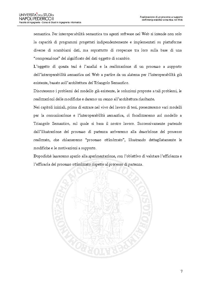 Anteprima della tesi: Realizzazione di un processo a supporto dell'interoperabilità semantica nel Web, Pagina 4