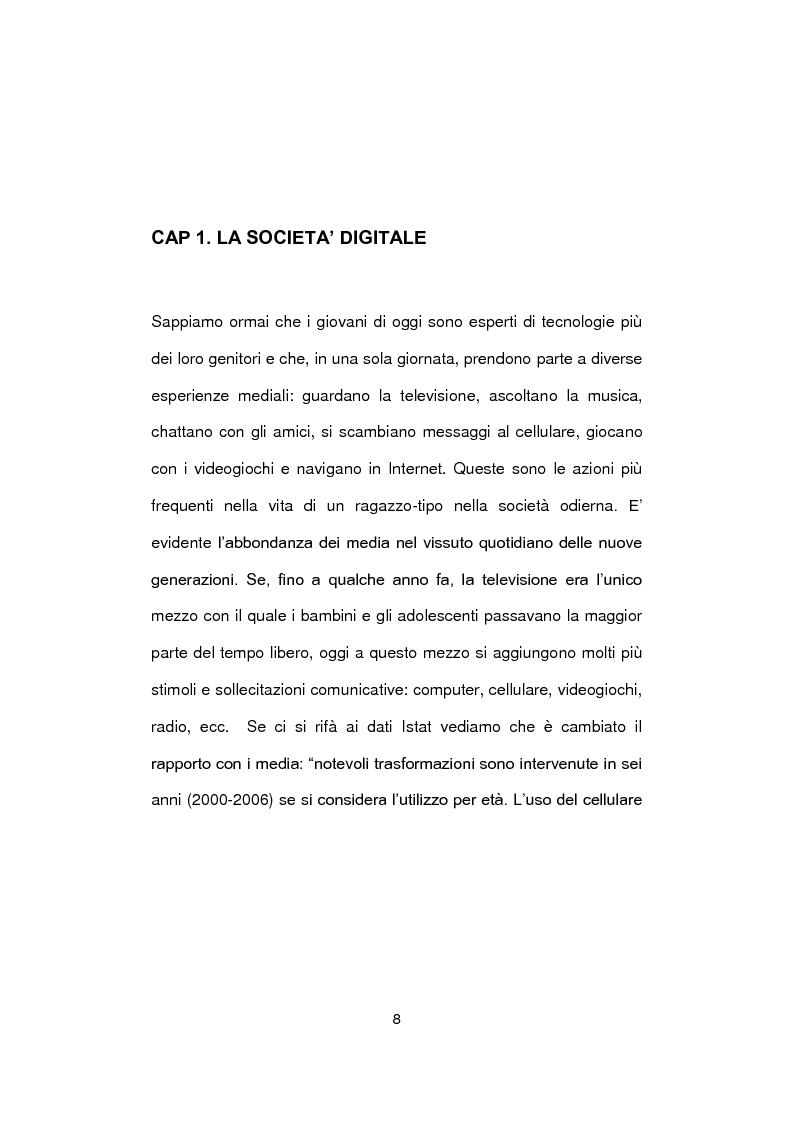 Anteprima della tesi: Social Network e nuova generazione, Pagina 7