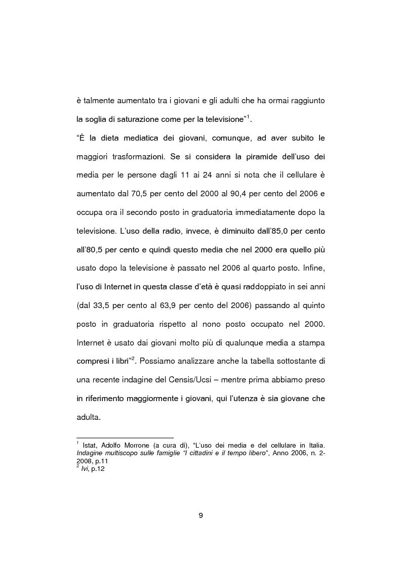 Anteprima della tesi: Social Network e nuova generazione, Pagina 8