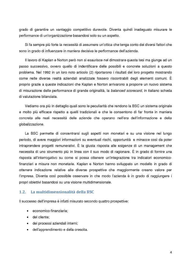 Anteprima della tesi: La Balanced Scorecard: un approfondimento della prospettiva di innovazione e apprendimento, Pagina 3