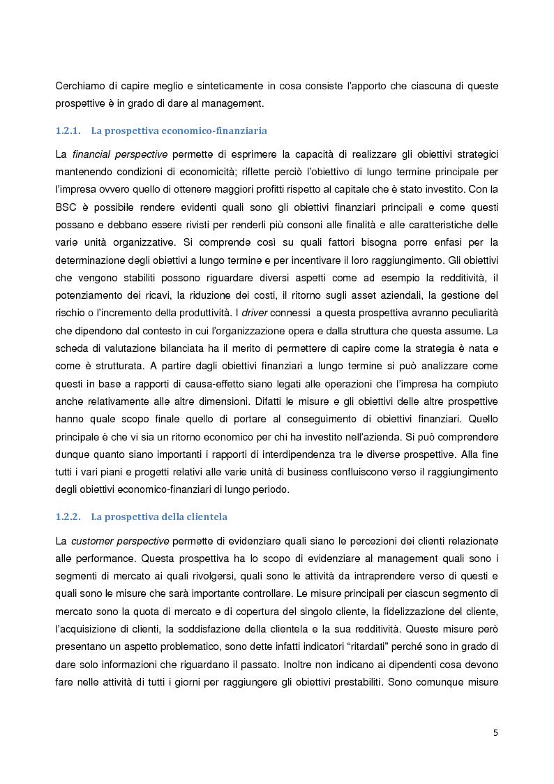 Anteprima della tesi: La Balanced Scorecard: un approfondimento della prospettiva di innovazione e apprendimento, Pagina 4