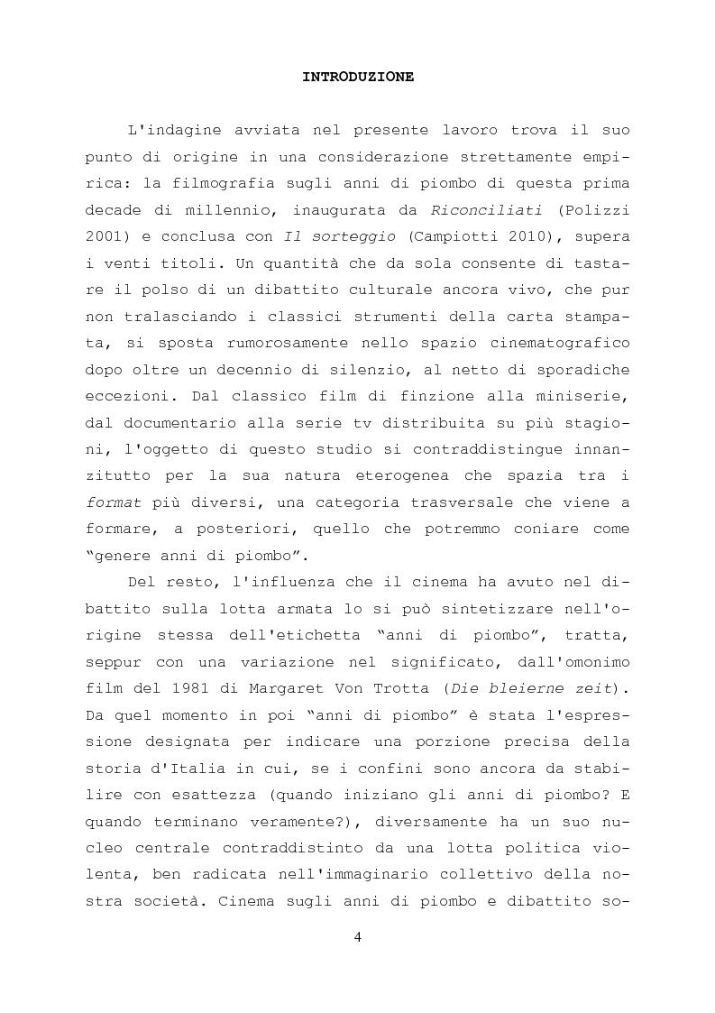 Anteprima della tesi: Gli anni di piombo visti da qui: rappresentazione e riconciliazione nel cinema italiano del terzo millennio, Pagina 2