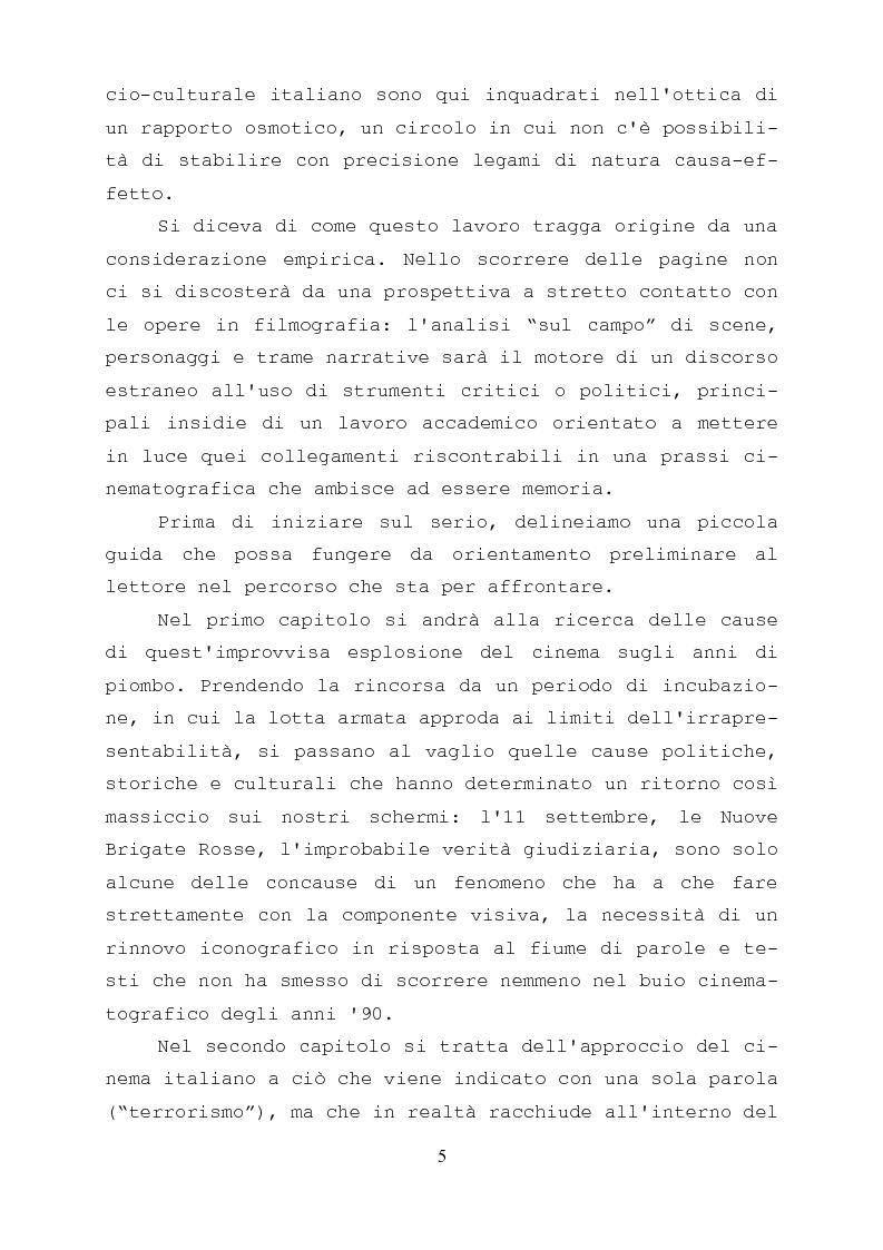Anteprima della tesi: Gli anni di piombo visti da qui: rappresentazione e riconciliazione nel cinema italiano del terzo millennio, Pagina 3