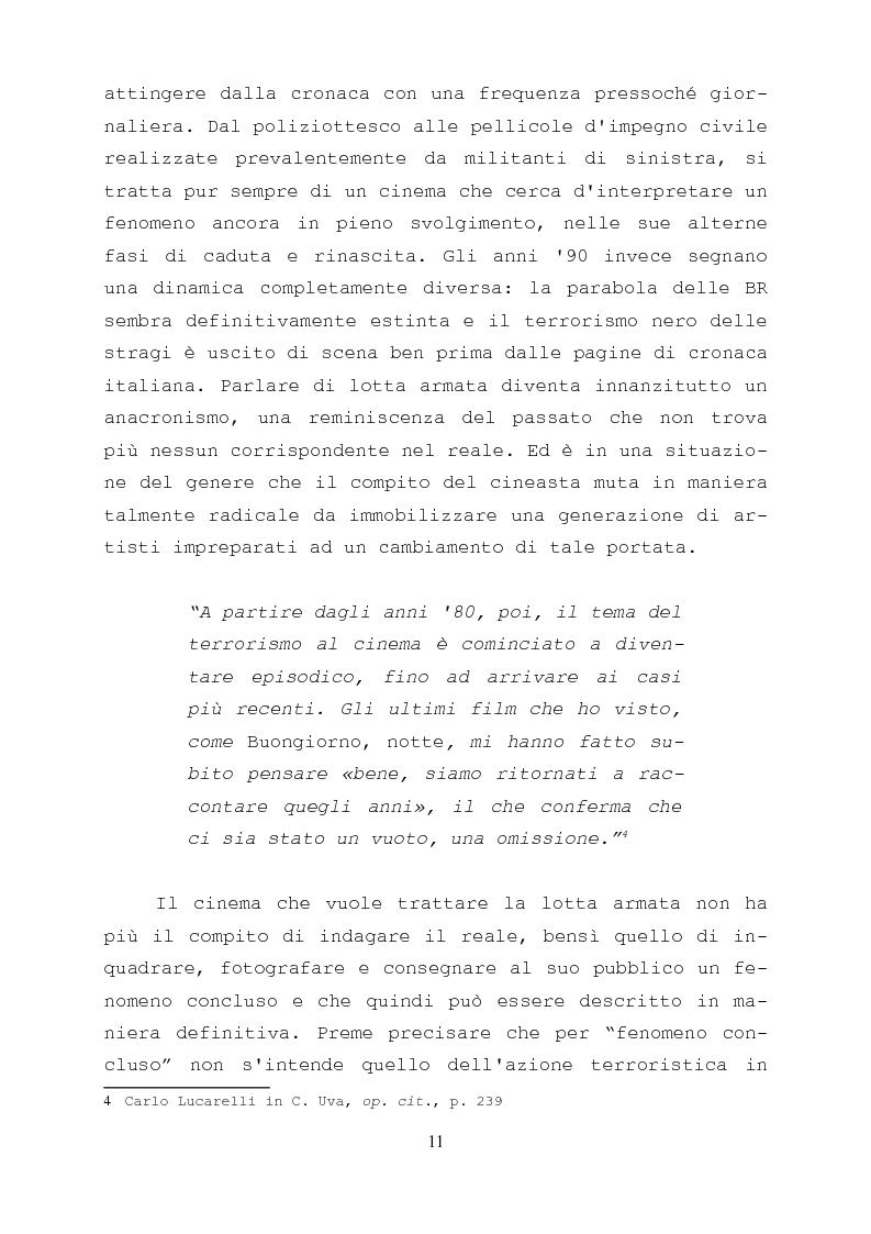 Anteprima della tesi: Gli anni di piombo visti da qui: rappresentazione e riconciliazione nel cinema italiano del terzo millennio, Pagina 9