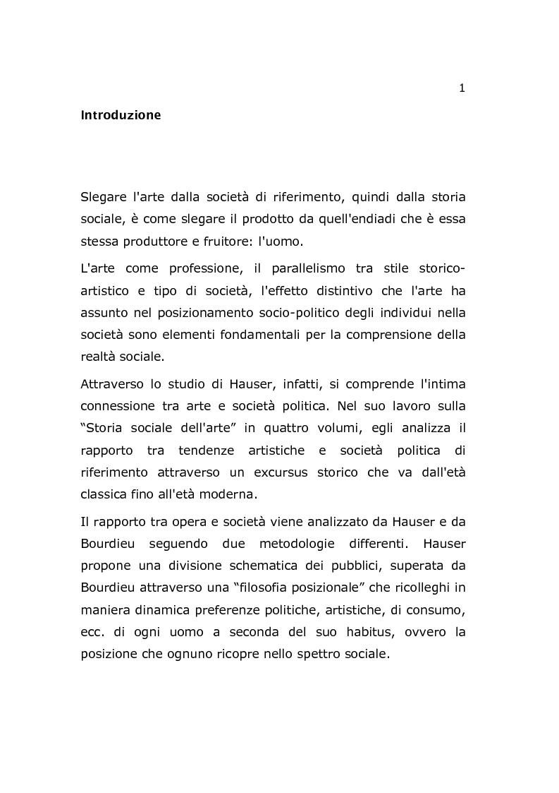 Anteprima della tesi: Arte e Società, Pagina 2
