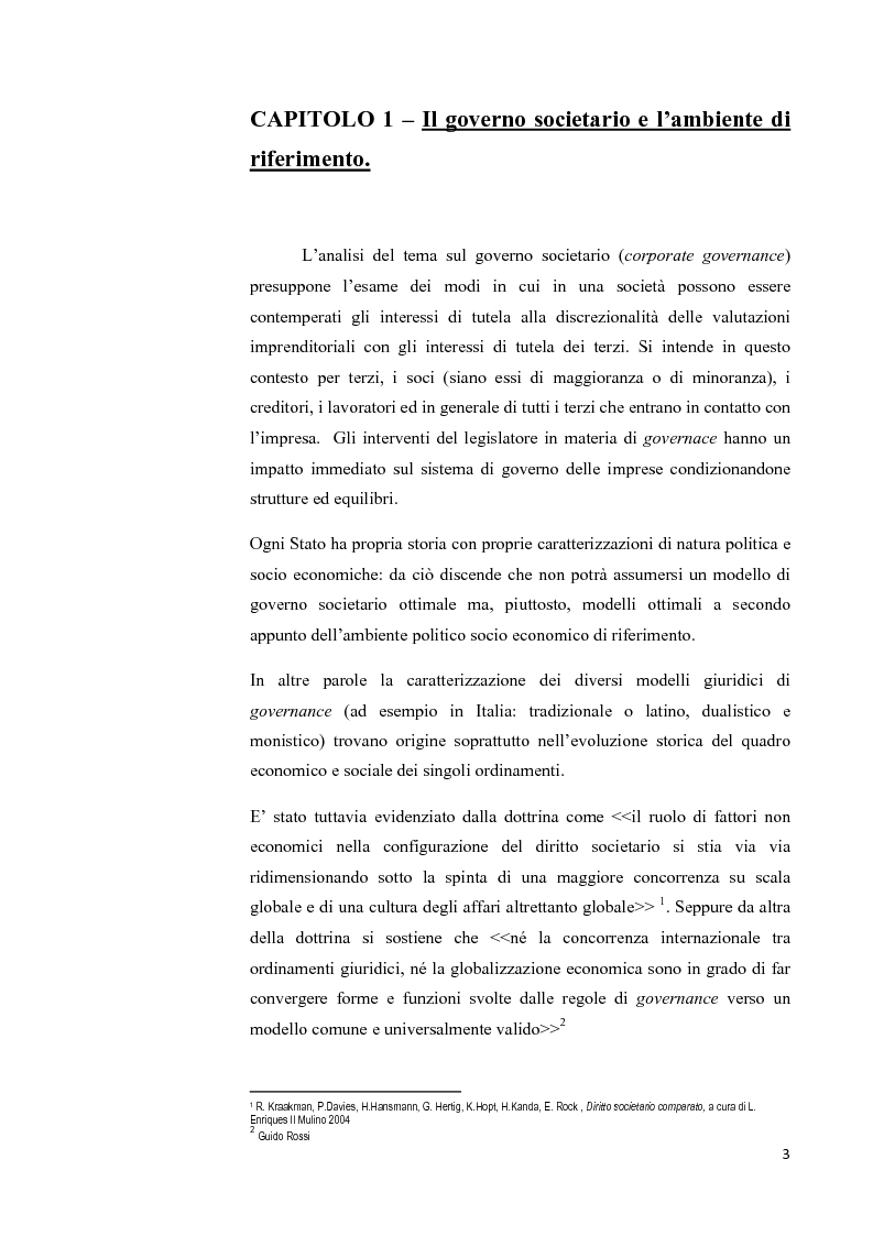 Anteprima della tesi: Il modello Dualistico: confronto tra la disciplina italiana e quella francese., Pagina 3