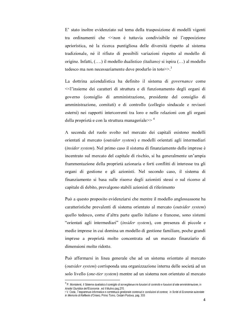 Anteprima della tesi: Il modello Dualistico: confronto tra la disciplina italiana e quella francese., Pagina 4