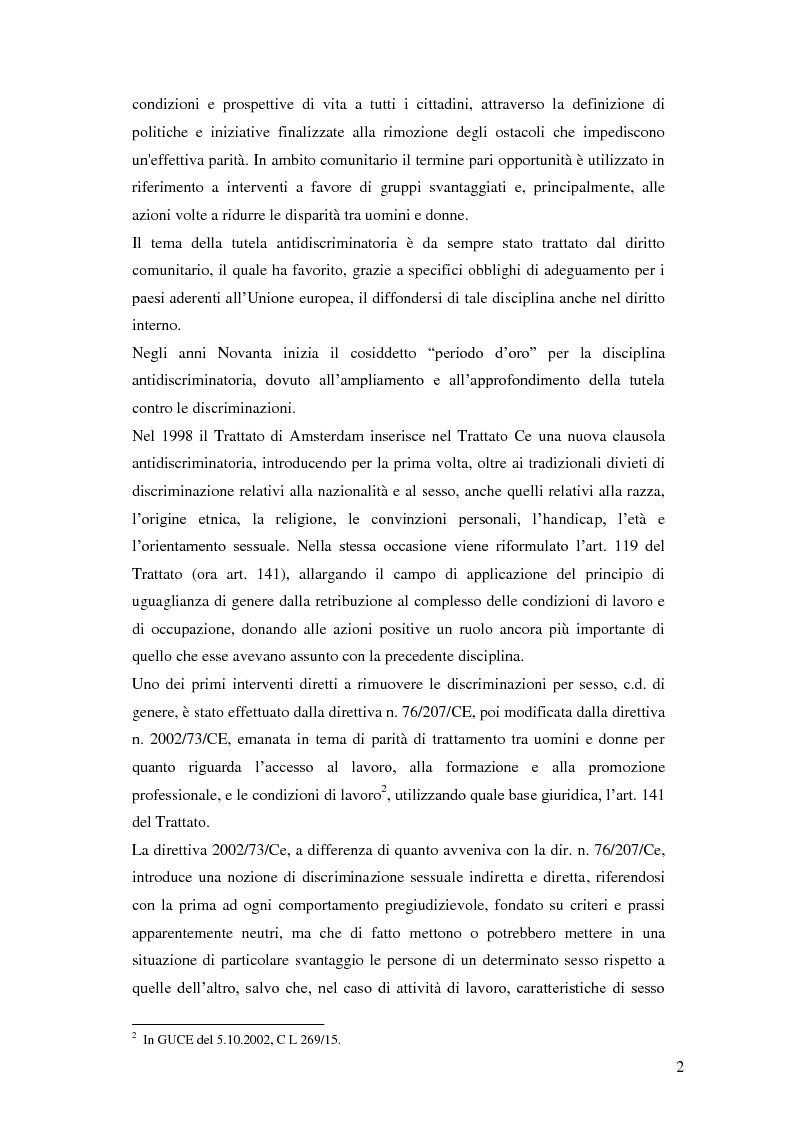 Anteprima della tesi: La tutela della lavoratrice madre nell'ordinamento nazionale, Pagina 3