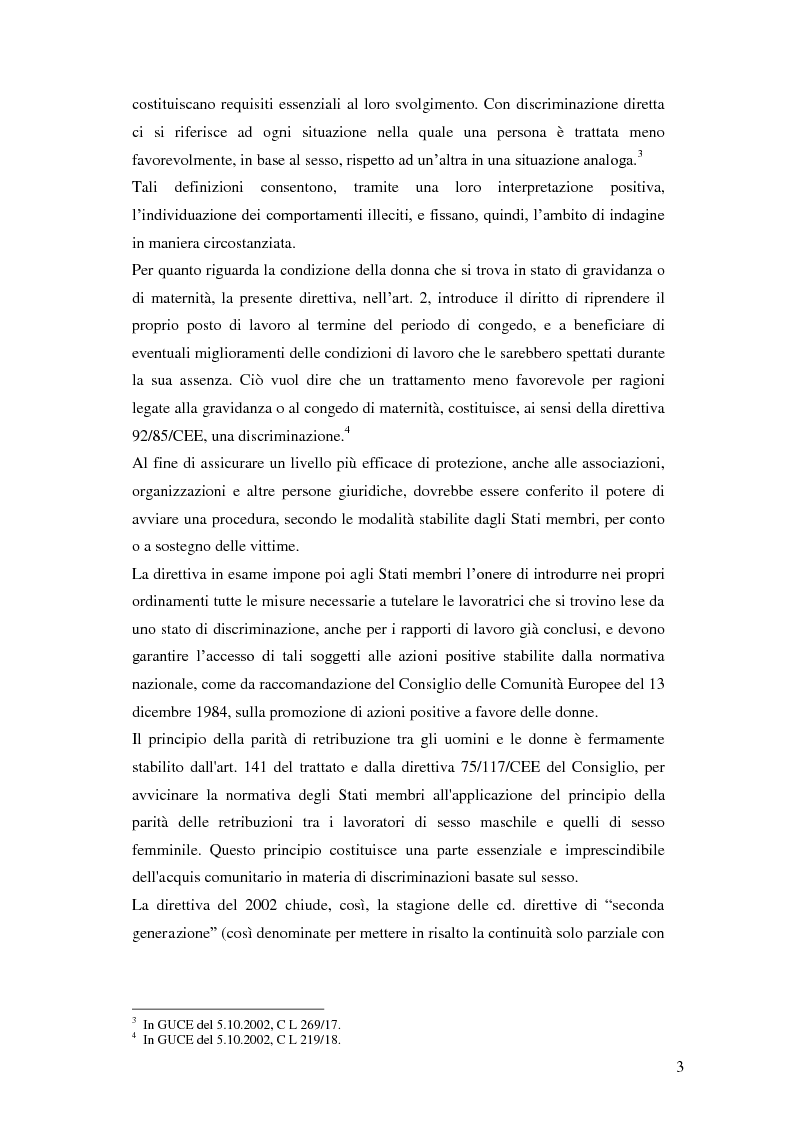 Anteprima della tesi: La tutela della lavoratrice madre nell'ordinamento nazionale, Pagina 4