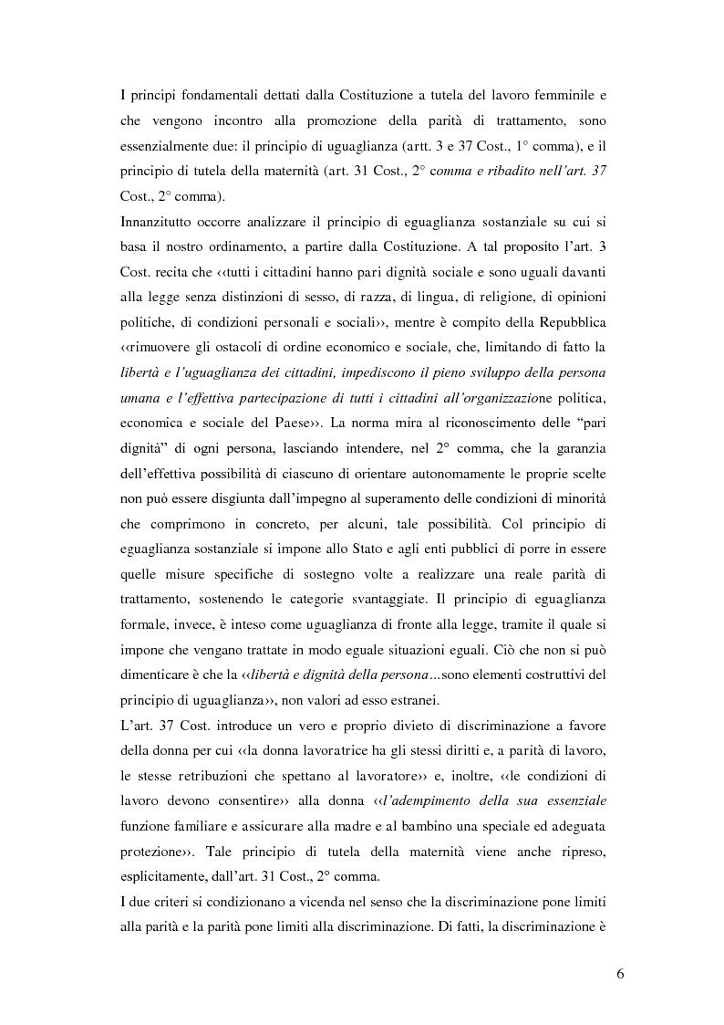 Anteprima della tesi: La tutela della lavoratrice madre nell'ordinamento nazionale, Pagina 7