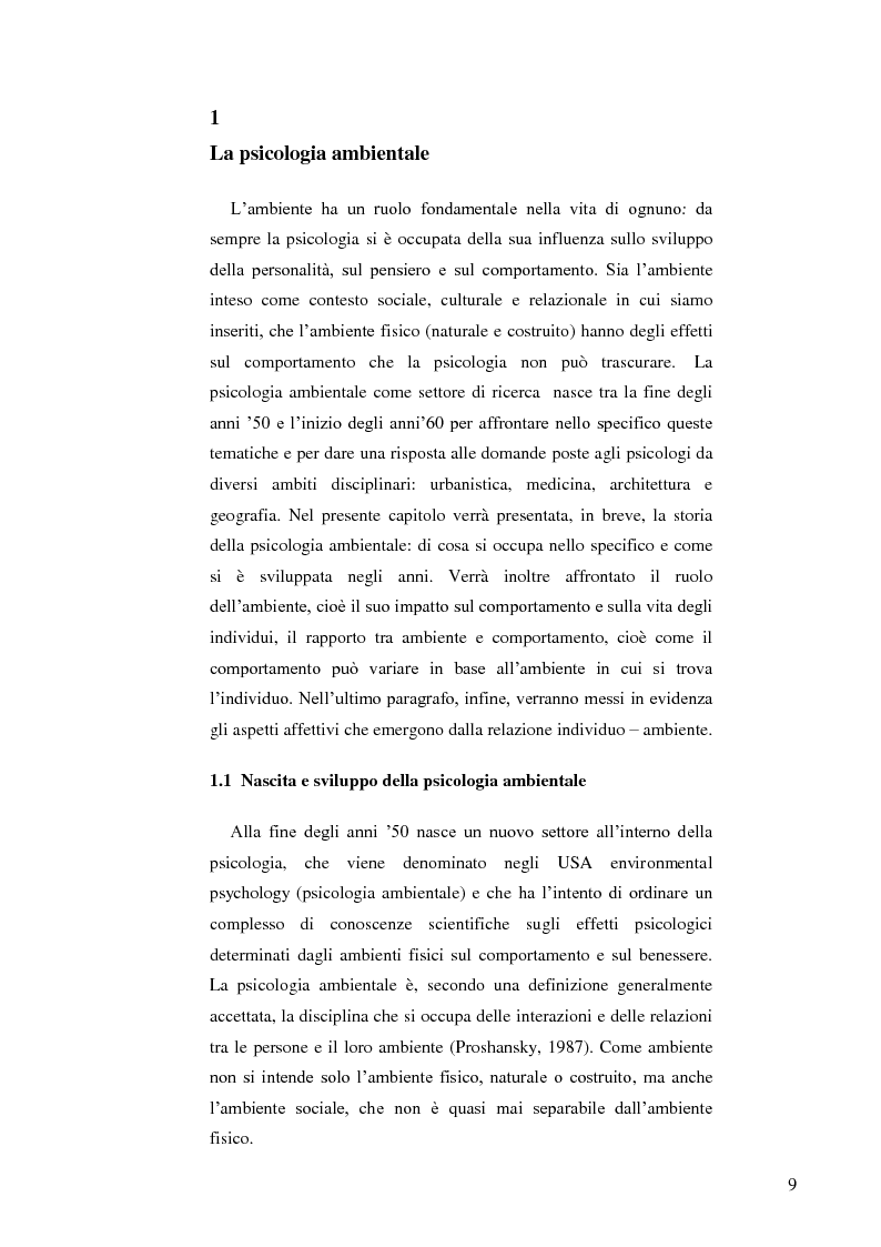 Anteprima della tesi: Il ruolo dell'ambiente fisico nel comportamento del bambino al nido, Pagina 2