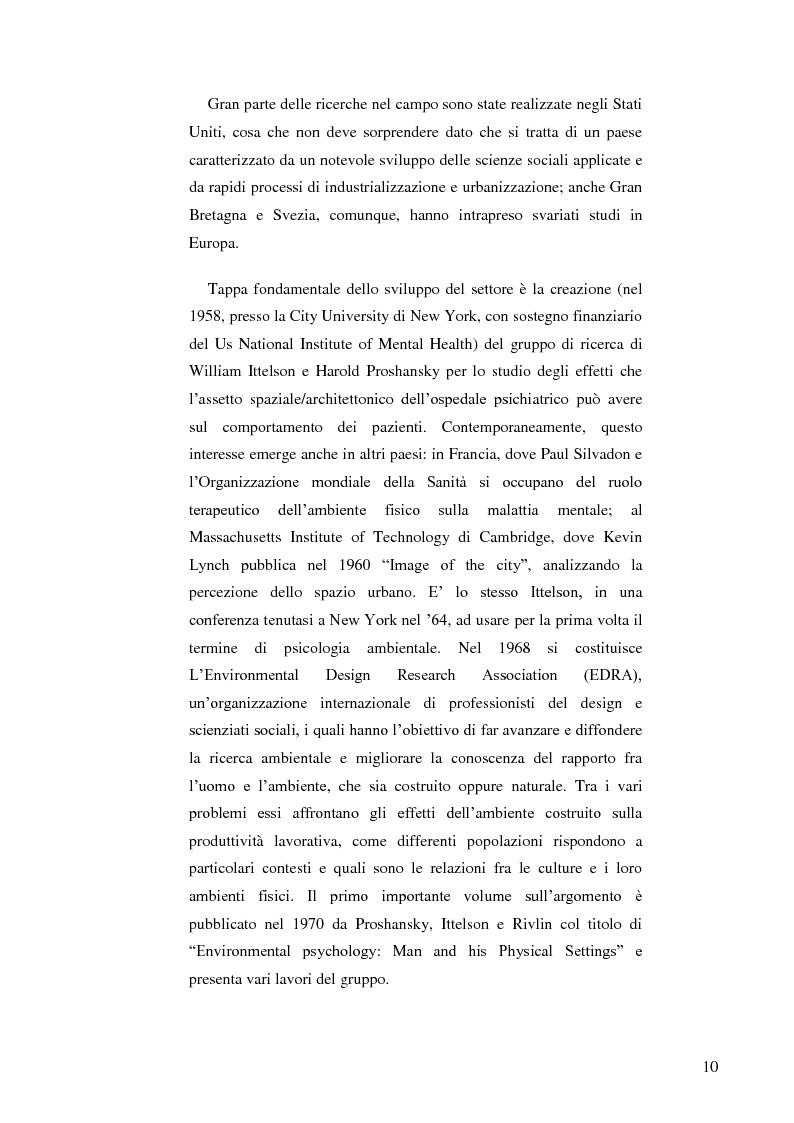 Anteprima della tesi: Il ruolo dell'ambiente fisico nel comportamento del bambino al nido, Pagina 3