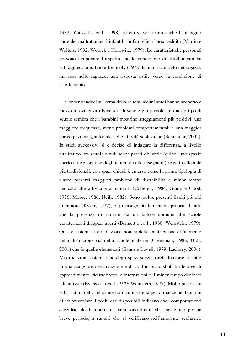 Anteprima della tesi: Il ruolo dell'ambiente fisico nel comportamento del bambino al nido, Pagina 7