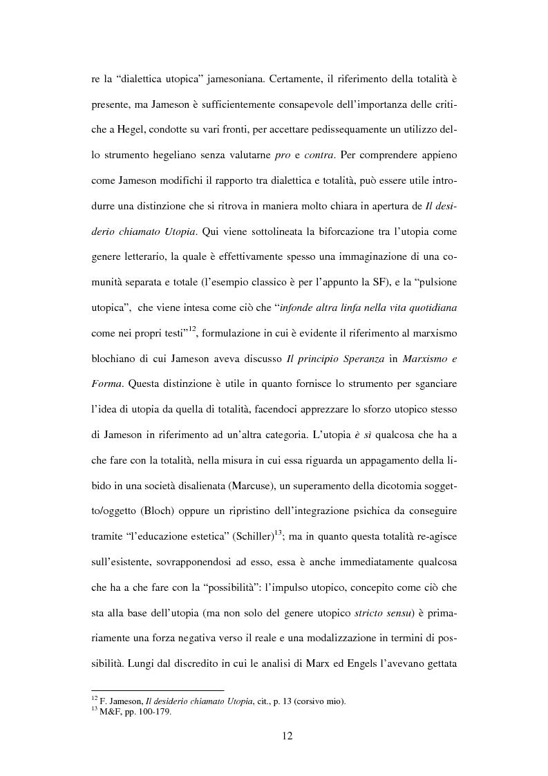 Anteprima della tesi: L'ermeneutica dialettica di Fredric Jameson, Pagina 11