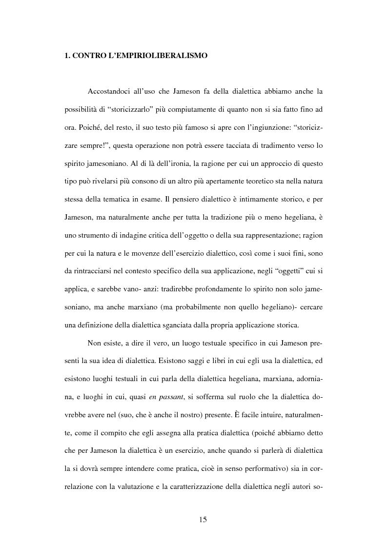 Anteprima della tesi: L'ermeneutica dialettica di Fredric Jameson, Pagina 14