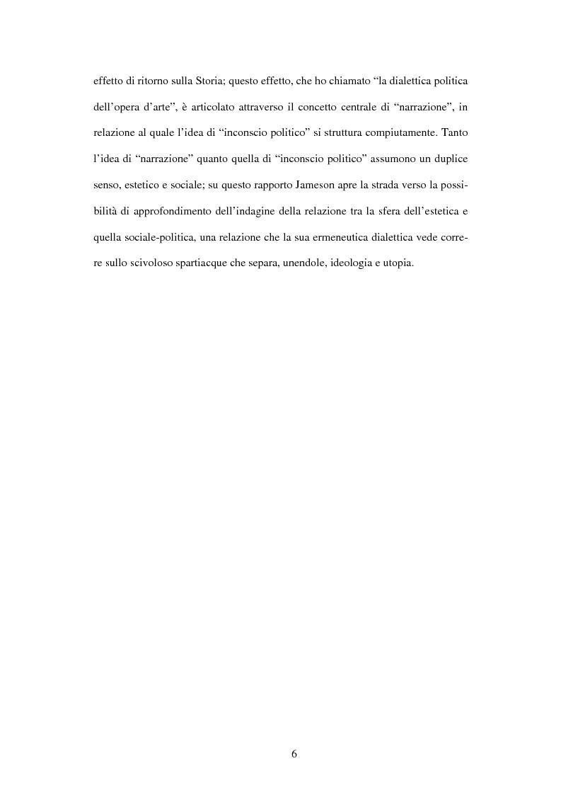 Anteprima della tesi: L'ermeneutica dialettica di Fredric Jameson, Pagina 5