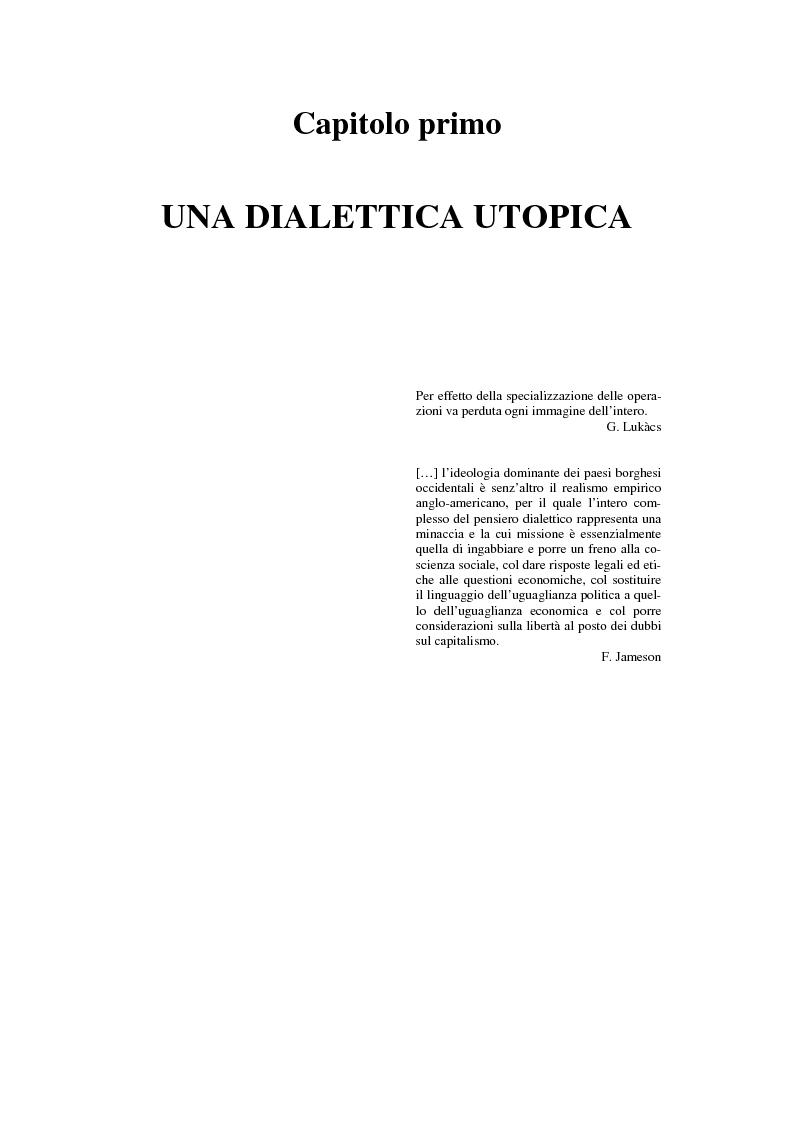 Anteprima della tesi: L'ermeneutica dialettica di Fredric Jameson, Pagina 6