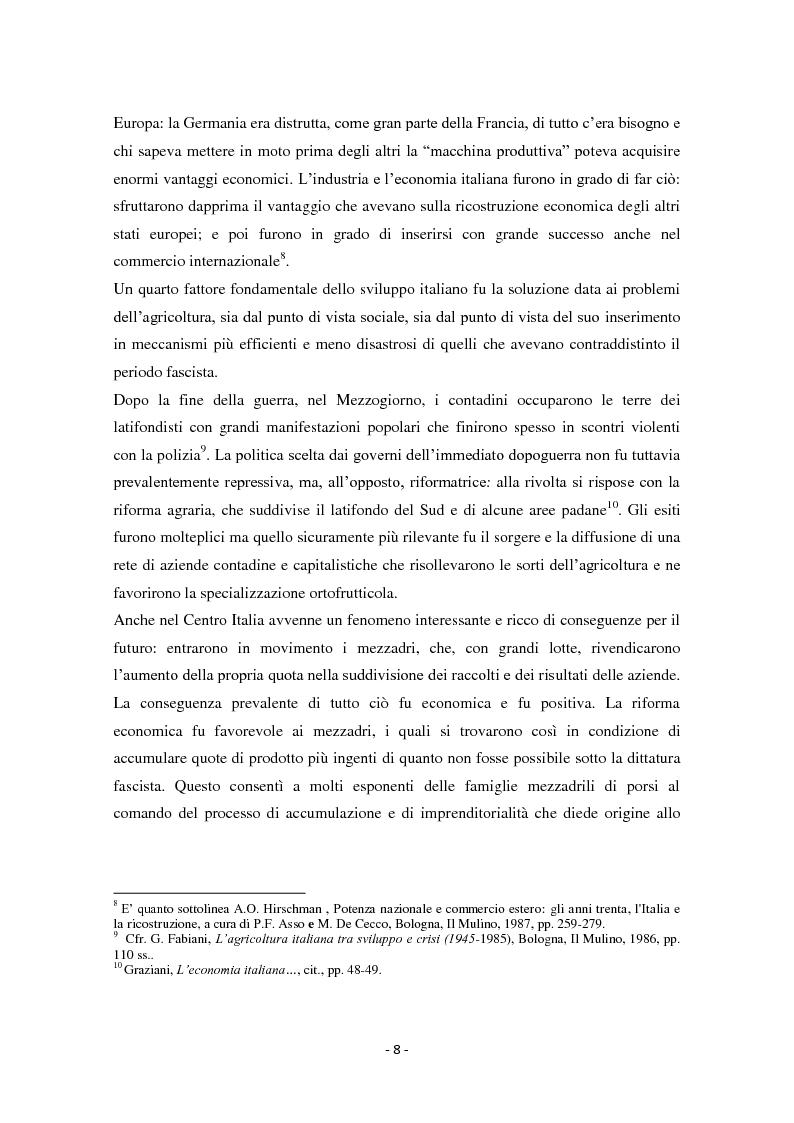 Anteprima della tesi: Diseguaglianze sociali e sviluppo economico dalla fine della Seconda Guerra Mondiale agli anni '90 in Italia, Pagina 5