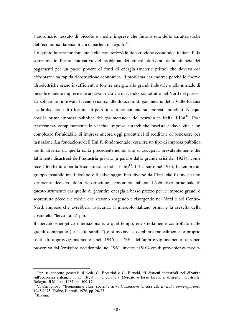 Anteprima della tesi: Diseguaglianze sociali e sviluppo economico dalla fine della Seconda Guerra Mondiale agli anni '90 in Italia, Pagina 6