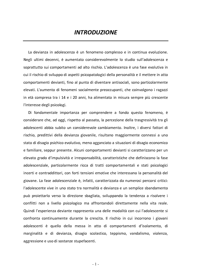 Anteprima della tesi: Il ruolo del gruppo dei pari come moderatore della devianza in adolescenza. Uno studio italiano all'interno del progetto SLAP, Pagina 2