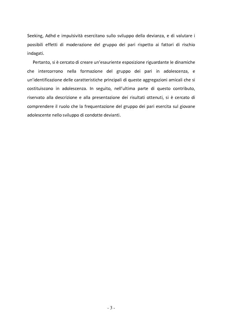 Anteprima della tesi: Il ruolo del gruppo dei pari come moderatore della devianza in adolescenza. Uno studio italiano all'interno del progetto SLAP, Pagina 4