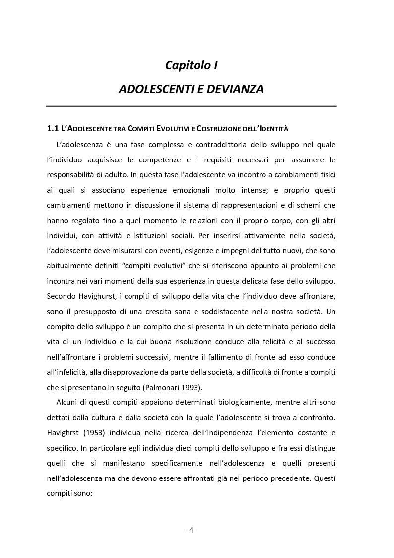 Anteprima della tesi: Il ruolo del gruppo dei pari come moderatore della devianza in adolescenza. Uno studio italiano all'interno del progetto SLAP, Pagina 5