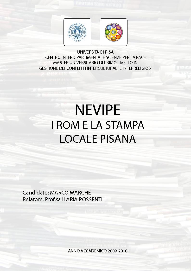 Anteprima della tesi: Nevipe: i Rom e la stampa locale pisana, Pagina 1
