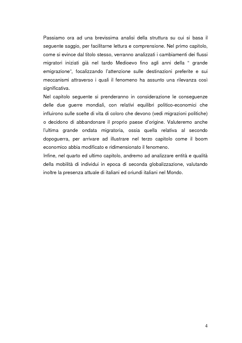 Anteprima della tesi: Passato e presente dell'emigrazione italiana, Pagina 3