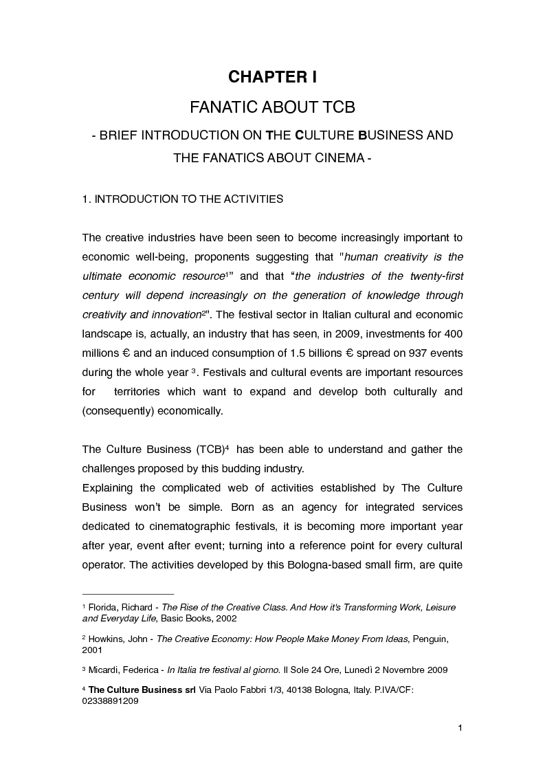 Anteprima della tesi: Entrepreneurial Experience and Internationalization in Creative Industries: The Culture Business Case Study, Pagina 2