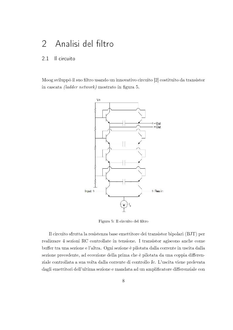 Anteprima della tesi: Realizzazioni digitali del filtro di Moog. Comparazioni e valutazioni architetturali., Pagina 7