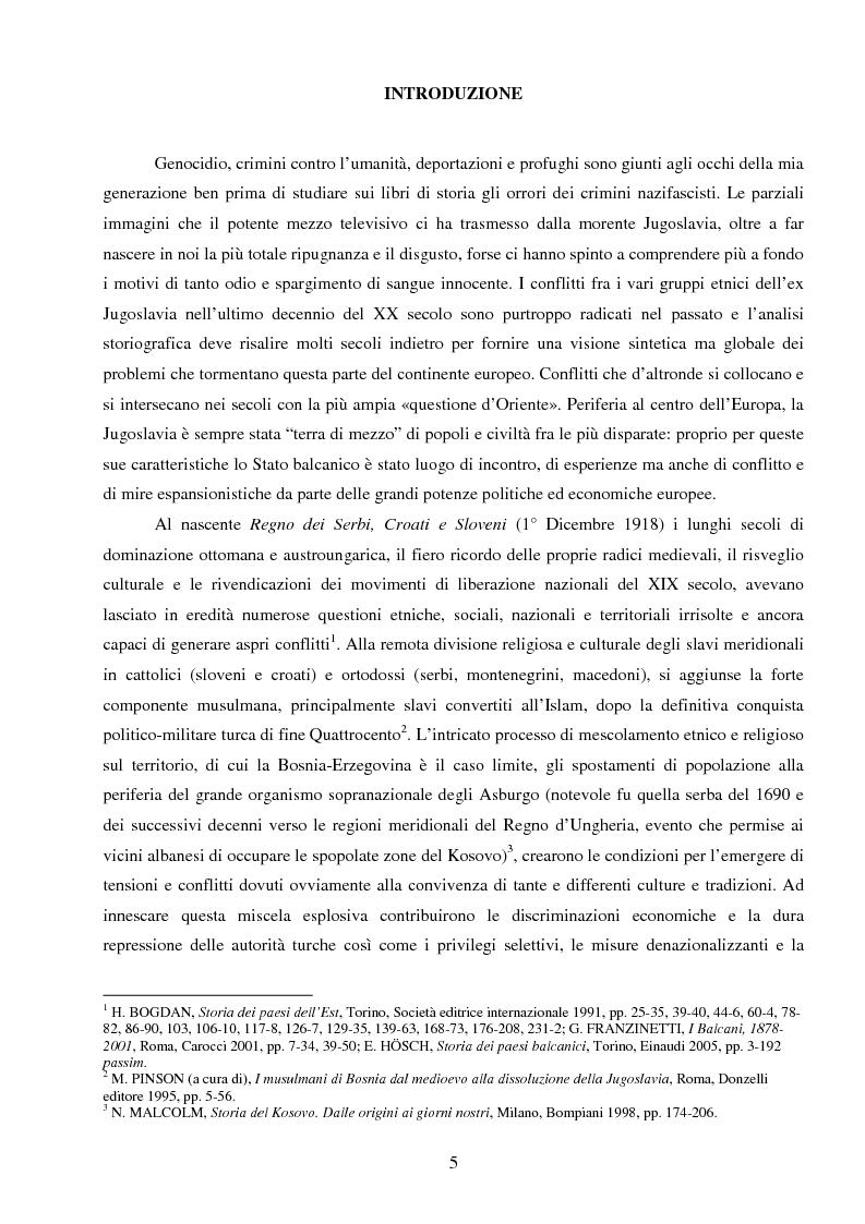 Anteprima della tesi: La Jugoslavia dal 1941 al 2000: tra esodi, scontri etnici e movimenti di popolazione, Pagina 2